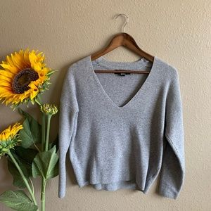Ribbed Gray Sweater